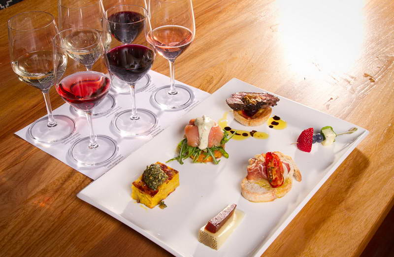 hunter valley gourmet food and wine tour - shot of degustation treats with Hunter valley wine tour specialists