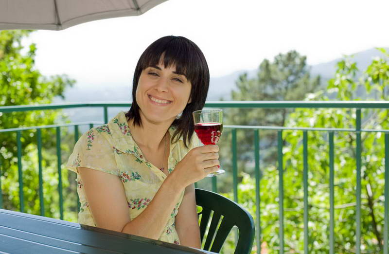 Young woman on a half day wine tour in the hunter valley